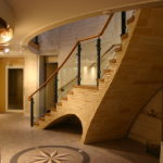 Vaulted staircase, Pines Calyx, Dover, Kent